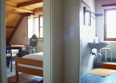 Eins der Zimmer im Seminarhaus Wolfsfeld